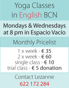 English Yoga Classes in Barcelona